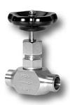 Nadelventil mit beidseitigen Anschweißzapfen aus Edelstahl Image