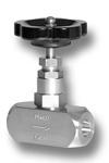 Nadelventil mit außenliegendem Spindelgewinde und beidseitiger Anschweißmuffe aus Edelstahl Image