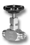 Nadelventil mit beidseitigem Klemmringanschluß aus Edelstahl Image