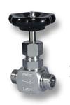 Nadelventil mit beidseitigem Schneidringanschluß aus Edelstahl Image