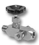 Angle shut-off valve DN4 PN250 Image